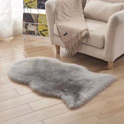 Lammfellimitat Lammfell Teppich Longhair Schaffell Wolle 75x120cm
