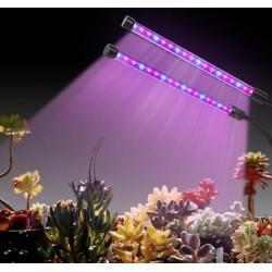 Pflanzenlicht Pflanzenlampe Zeitfunktion Wachstumslampe Doppelkopf 18W