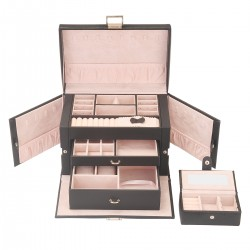 Kosmetikkoffer Schublade Schmuckkasten Schmuckbox Schatulle 3 Ebenen