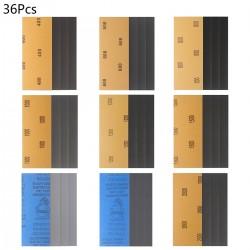 Schleifpapier Blätter Sandpapier Set Nassgitter für Schleifen 36pcs