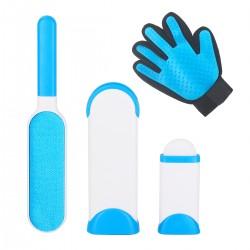 Reisebürste Fusselbürste und Haarentferner mit Handschuh f. Haustier