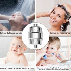 Duschfilter Wasserfilter Shower Filter 10-Schichten für Duschkopf