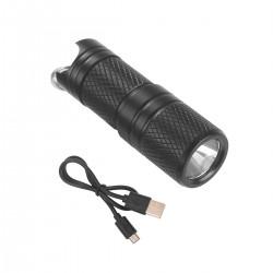 Taschenlampe Schlüsselanhänger Flashlight LED mit Akku und USB Kabel