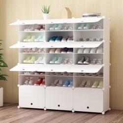Schuhregal Schrankregal Regale für Schuhe Stiefel Hausschuhe 7 Ebenen