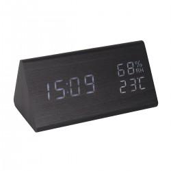 LED Digitaler Reisewecker Wecker Uhr Tischuhr Digitaluhr Holzoptik