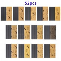 Sandpapier Schleifpapier Trocken Nass Blätter 52pcs Set f. Schleifen