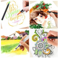 Aquarellpinsel Lettering Stifte Brush Pen Pinselstifte 20+1 Set