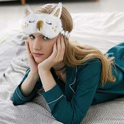 Augenbinde Schlafmaske Schlafbrille 2 Stück Einhorn Augenklappe