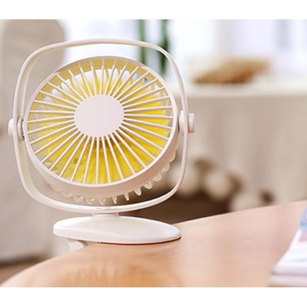 360°Mini Fan USB Clip Ventilator Tischventilator Lüfter 3 Flügel Schreibtisch