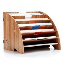 A4 Ablagekorb Papierablage Briefablage Ablagefächer für Büro aus Holz
