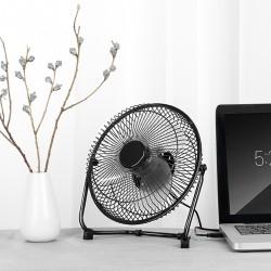 USB Tischventilator Lüfter Ventilator Fan Metall für Schreibtisch