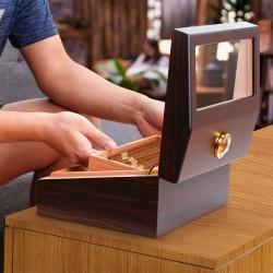 Zigarren Humidor Zigarrenluftbefeuchter Zigarrenschachtel Hygrometer