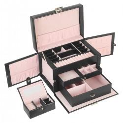 Schmuckkasten Kosmetikkoffer abschließbar Schmuckbox Schatulle