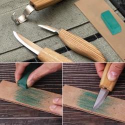 5er Holzschnitzerei Schnitzmesser Haken Schnitzwerkzeuge Set in Tasche