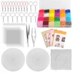 Bügelperlen mit Stiftplatten Bügelperlen Set 24Farbe Steckperlen