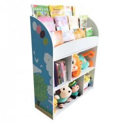 Aufbewahrungsregal Spielzeugkiste Spielzeugtruhe mit Bücherregal
