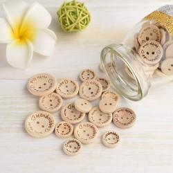 140pcs Handmade Holzknöpfe Naturfarben knöpfe zum Nähen und Basteln