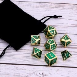 7er Metall Würfel für Rollen und Tabletopspiele inkl. Aufbewahrungsbox