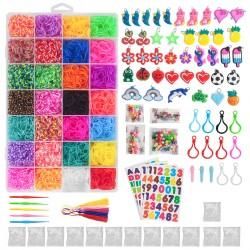 Loom Bänder Kit mit Webrahmen und Haken Regenbogen für armbänder