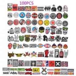 100 Stücke Band Rock Punk Aufkleber für Laptop Autos Motorrad Fahrrad