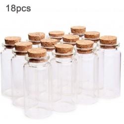18pcs 10ml Mini Glasflaschen Flaschen mit Korken klein Glasfläschchen