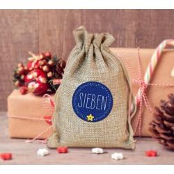 Adventskalender zum Befüllen Karo 24 Stoffbeutel Geschenksäckchen