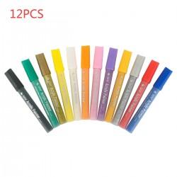 12 Farben Acrylstifte Marker Stifte Steine Bemalen Stifte für Malerei