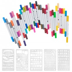 36pcs Watercolor Effekte Aquarellpinsel für Manga Kalligraphie
