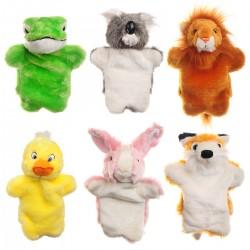Kinder Handpuppen 6er Cartoon Tiere Plüsch Puppen Handschuhe für Kinder