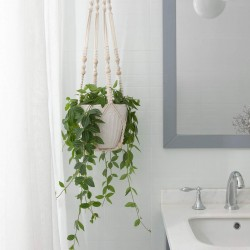 Makramee Blumenampel Baumwollseil Hängeampel Pflanzen Halter Aufhänger