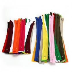 80pcs Reissverschluss Nylon für Kleidung Tasche Mäppchen 20 Farben