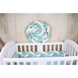 Bettschlange Nestchenschlange Baby Nestchen Bettumrandung für Babybett