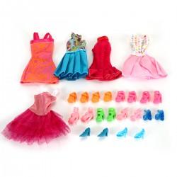 Kleidung Schuhe Zubehör Set für Barbie Puppen für Kinder Geschenk