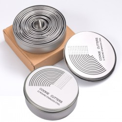 12er Ausstechformen Keksformen Cutter Set Edelstahl mit Aufbewahrungsbox