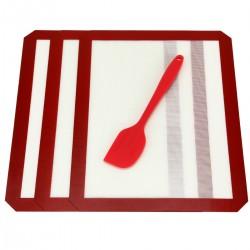 Backunterlage Silikonmatte Backen Teigmatte Backmatte für Fondant Gebäck