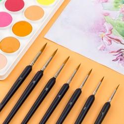 10 Stück Pinselset Malen Feines Detail Pinsel Set für Fein Modellbau