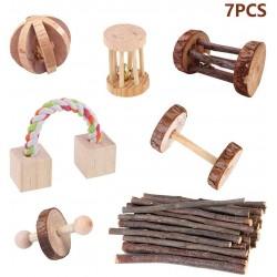 Hamster Kauspielzeug Natürliche Holz Kauen Spielzeug Übung Spielen Set