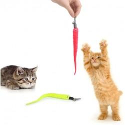 Katzenspielzeug mit Nachfüllungen Katze Würmer Spielzeug für Katze