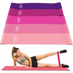 Widerstandsbänder Fitnessbänder Gymnastikband 5er Set für Muskelaufbau