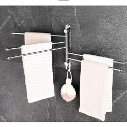 Handtuchhalter Wandhandtuchhalter Handtuchhaken Edelstahl mit 4 Armen