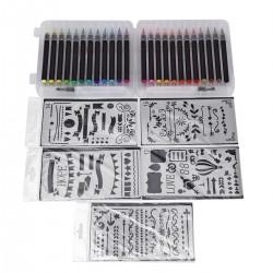 Pinselstifte Aquarellpinsel Kalligraphie Zeichnen Stifte Brush Pen Set