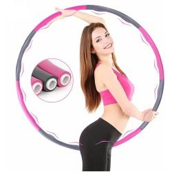 Hula Hoop Reifen für Erwachsene und Kinder 8 Segmenten Abnehmbarer Fitnessreifen Hula Hoop Kreis Reifen Hoop für Taille Hüfte und Gewichtsverlust