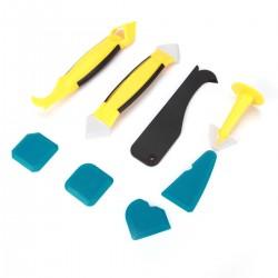 8pcs Silikonentferner Fugenwerkzeug Kratzer Entferner Werkzeug Schaber