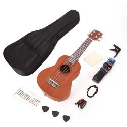 Konzert-Ukulele Anfänger Set 21 Zoll mit Tasche Stimmgerät Zubehör
