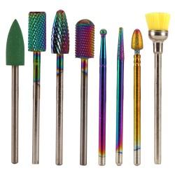 8pcs Schleifköpfe Nagelhaut Nagelfeile Werkzeuge für Maniküre Pediküre