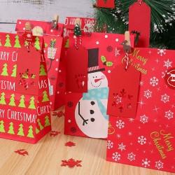 24 Stück Partytasche Weihnachten Geschenktaschen Papiertüte Geschenkbox