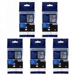 5pcs Laminiert Etikettenband Schriftband als Ersatz für Brother P-touch