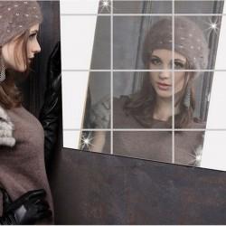 10er Spiegelfliesen Wanddekoration Wandspiegel Fliesenspiegel Spiegel