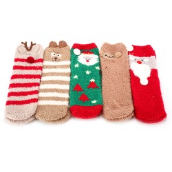 Kuschelsocken Stoppersocken Winter Socken Weihnachtssocken 5 Paar
