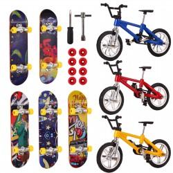 8pcs Finger Skateboards Fahrräder Fingerboards Fahrrad Mini Finger Sport